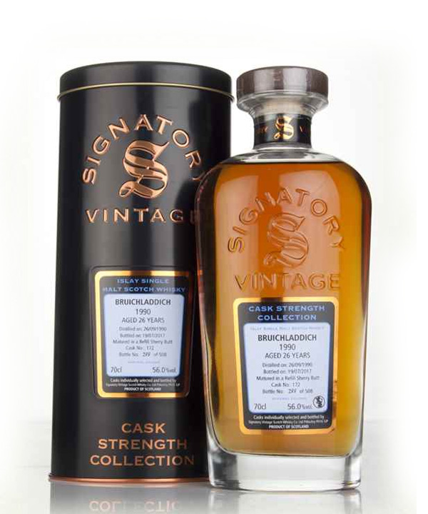 Bruichladdich 1990-26 YO Signatory Cask Strength Collection